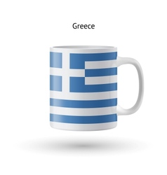 Greece flag souvenir mug on white background vector