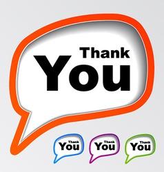 Speech bubbles thank you vector