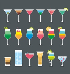 Cocktail set vector