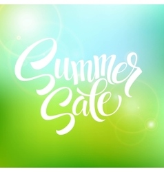 Summer sale blurred background vector