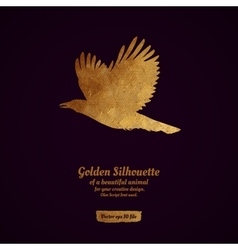 Creative design with golden silhouete vector