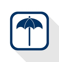 Sunshade flat icon vector