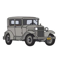 Gray vintage car vector