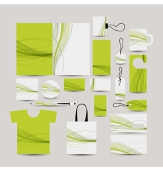 Corporate business style abstract design green vector
