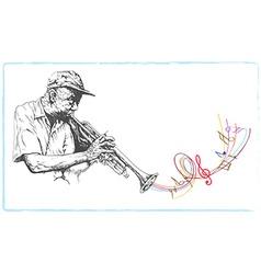 Musician trumpeter vector