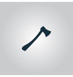 The ax icon axe symbol flat vector