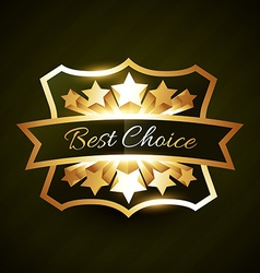 Best choice label design with stars burst vector
