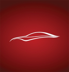 Speedy auto logo over red vector