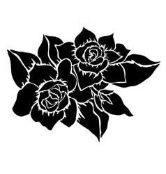 Decorative gardenia vector