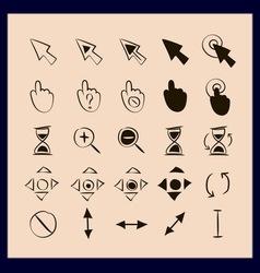 Doodle cursors 25 pieces vector