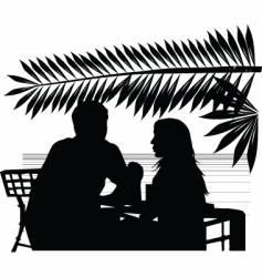 Cafe on beach vector