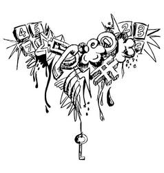 Grunge grafitti vector