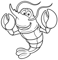 Shrimp outline vector