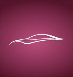 Speedy auto logo over pink vector