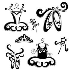 Ballet accessories vector