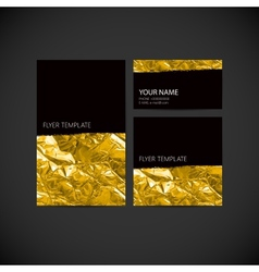 Set of visual corporate identity with golden vector