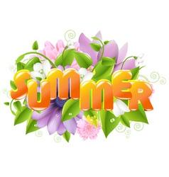 Floral summer sign vector