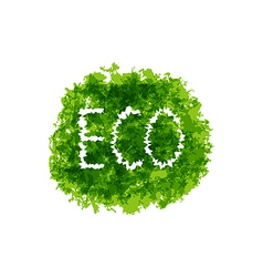 Eco friendly words on green bush vector