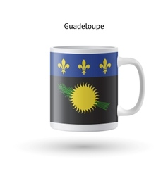 Guadeloupe flag souvenir mug on white background vector