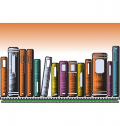 Woodcut books vector