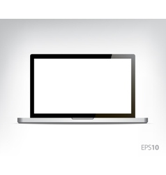 Realistic opened laptop personal computer vector