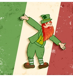 Leprechaun flag vector