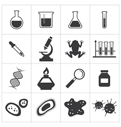 Chemistry and biology icon set vector