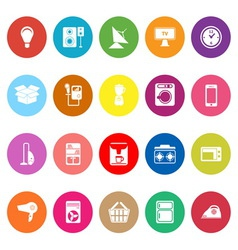 Home related flat icons on white background vector