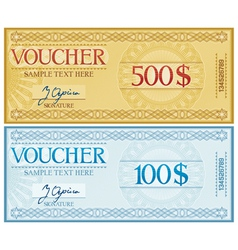 Voucher design vector