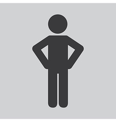 Human silhouette design vector