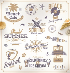 Set of travel and vacation emblems vector