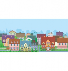 Townhouses vector