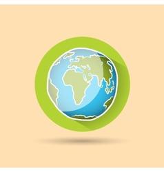 Doodle globe icon vector