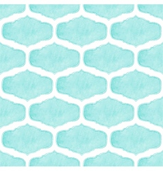 Watercolor seamless pattern with victorian frames vector