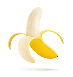 Peeled banana vector