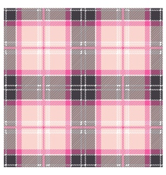 Seamless pink tartan plaid design vector