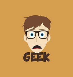 Geek guy vector