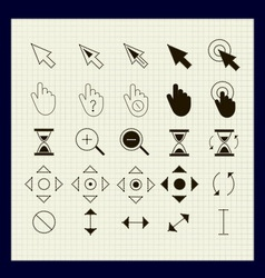 Cursors of the points 25 pieces vector