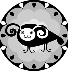 Funny chinese horoscope ram vector