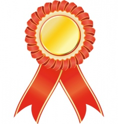 Award seal rosette vector