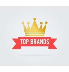 Top brand card tag vector