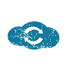 Grunge cloud exchange icon vector