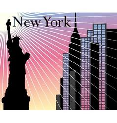 New york skyscrapers background vector
