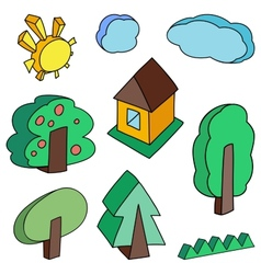 Landscape objects vector