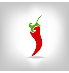 Pepper isolated on light background vector