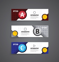 Circle infographics business design template vector