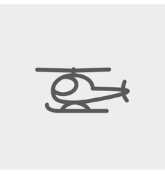 Helicopter thin line icon vector
