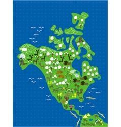 Americas cartoon map vector