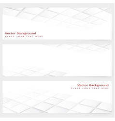 Abstract template horizontal perspective banner vector