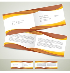 Brochure design template booklet brown yellow vector